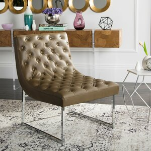 Areswell Leather Tufted Lounge Chair by Willa Arlo Interiors