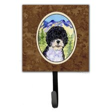 Portuguese Water Dog Leash Holder and Wall Hook by Caroline's Treasures