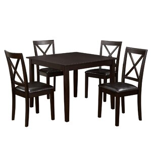 Annmarie 5 Piece Counter Height Dining Set