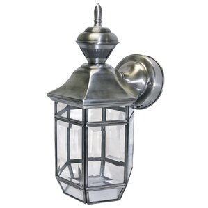 Exterior Wall Lantern With Built In Electrical Outlet Hampton Bay