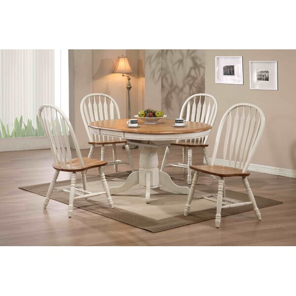 Great Loon Peak Clarno Extendable Dining Table U0026 Reviews | Wayfair Regarding Extendable Dining Room Tables