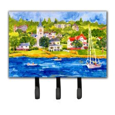 Harbour Scene with Sailboat Key Holder by Caroline's Treasures