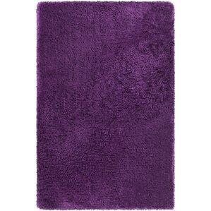 Joellen Textured Contemporary Shag Purple Area Rug