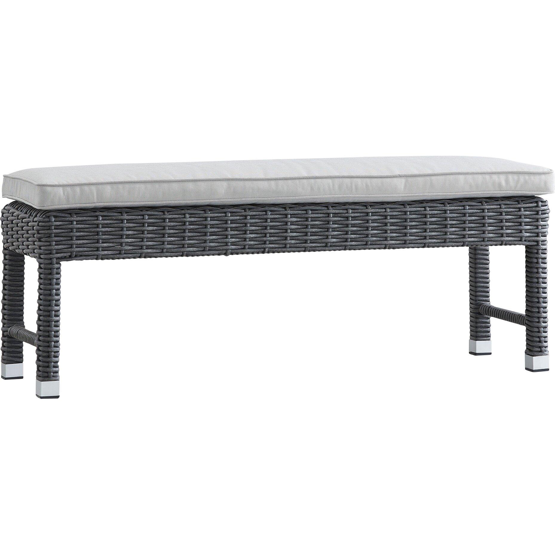 Shannon Aluminum/Wicker Garden Bench : Joss u0026 Main