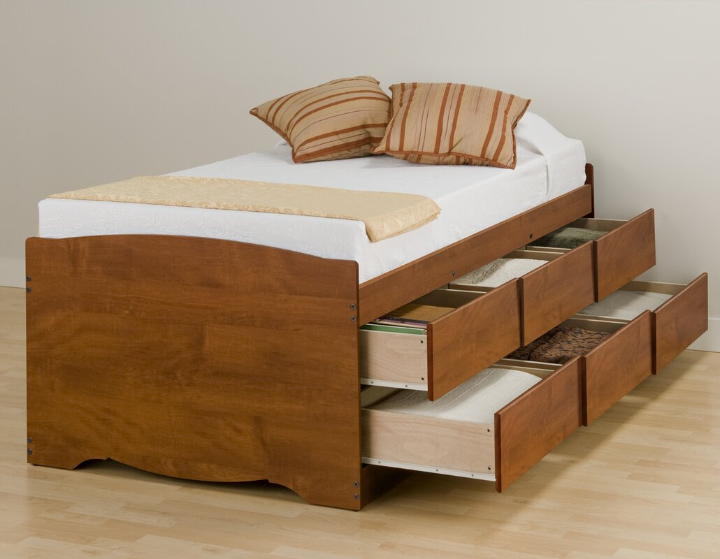 Twin platform bed with drawers - Default_name