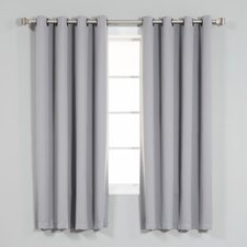 coolidge basic solid blackout thermal grommet curtain panels set of 2