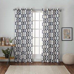 geometric curtains & drapes you'll love   wayfair