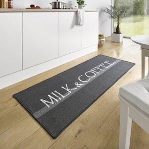 Küchenläufer Milk & Coffee in Grau/Weiß