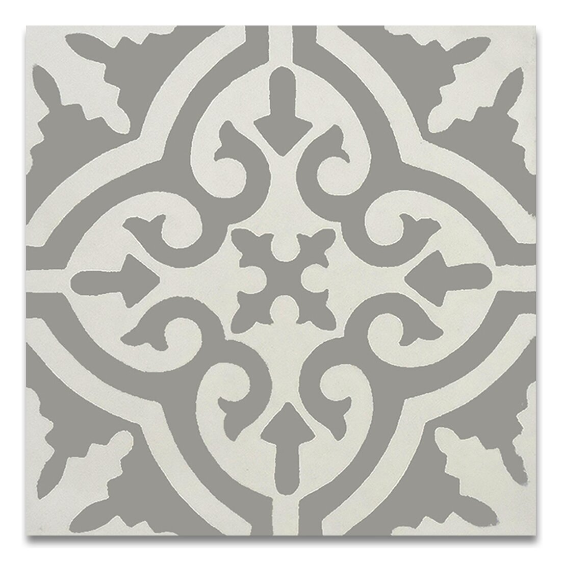 Moroccan Mosaic Tile House Argana 8 Quot X 8 Quot Handmade Cement Tile In Gray And White Amp Reviews Wayfair