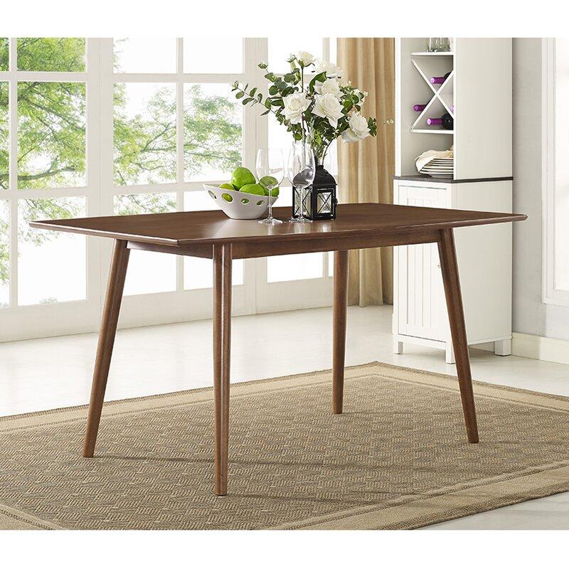 corrigan studio gus mid-century dining table & reviews | wayfair