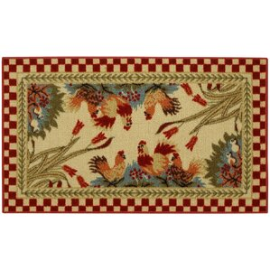 beauchesne rooster checke kitchen mat. Interior Design Ideas. Home Design Ideas