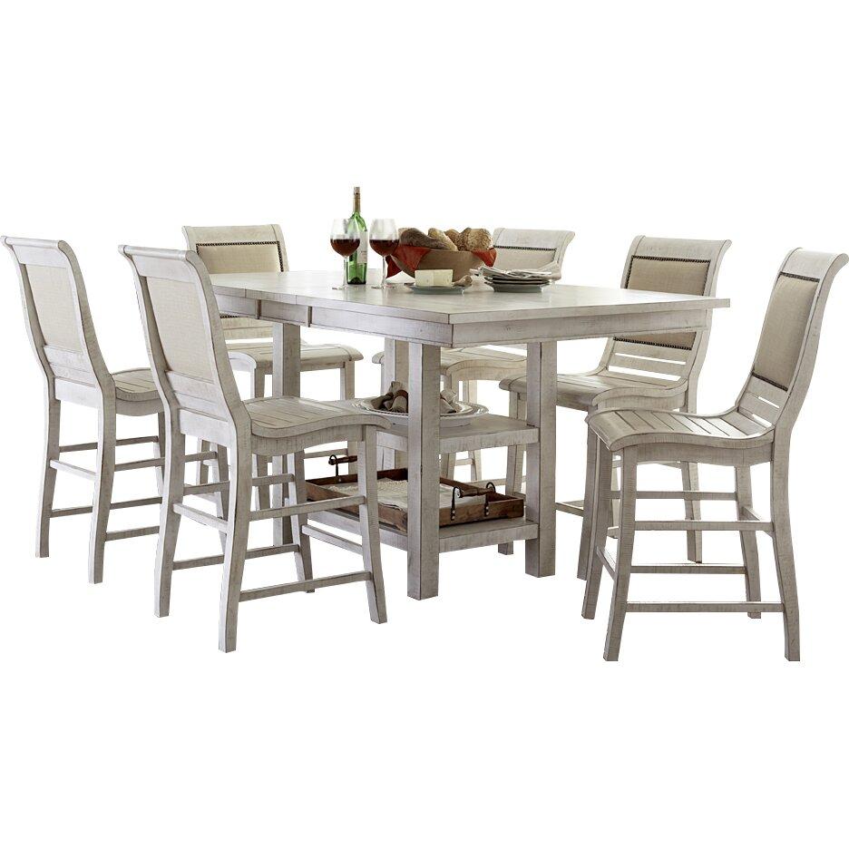 Lark manor castagnier counter height extendable dining for Counter height extendable dining table
