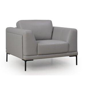 Joachim Top Grain Contemporary Armchair by Orren Ellis