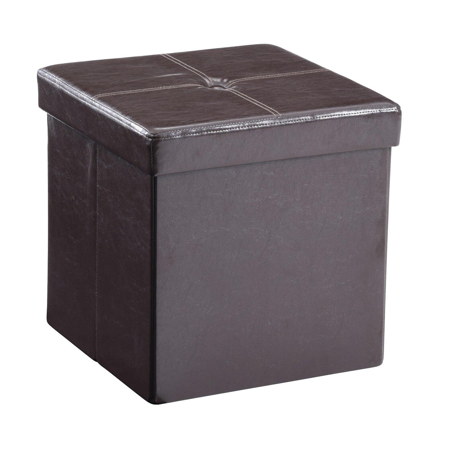 Carisbrooke Cube Upholstered Storage Ottoman - Andover Mills Carisbrooke Cube Upholstered Storage Ottoman