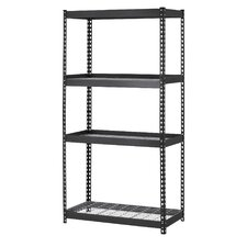 60 H Steel Four Shelf Heavy Duty Shelving Unit by Edsal-Sandusky