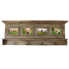 Antiqued Handcrafted Family Album Picture Frame Coat Rack by EC World Imports