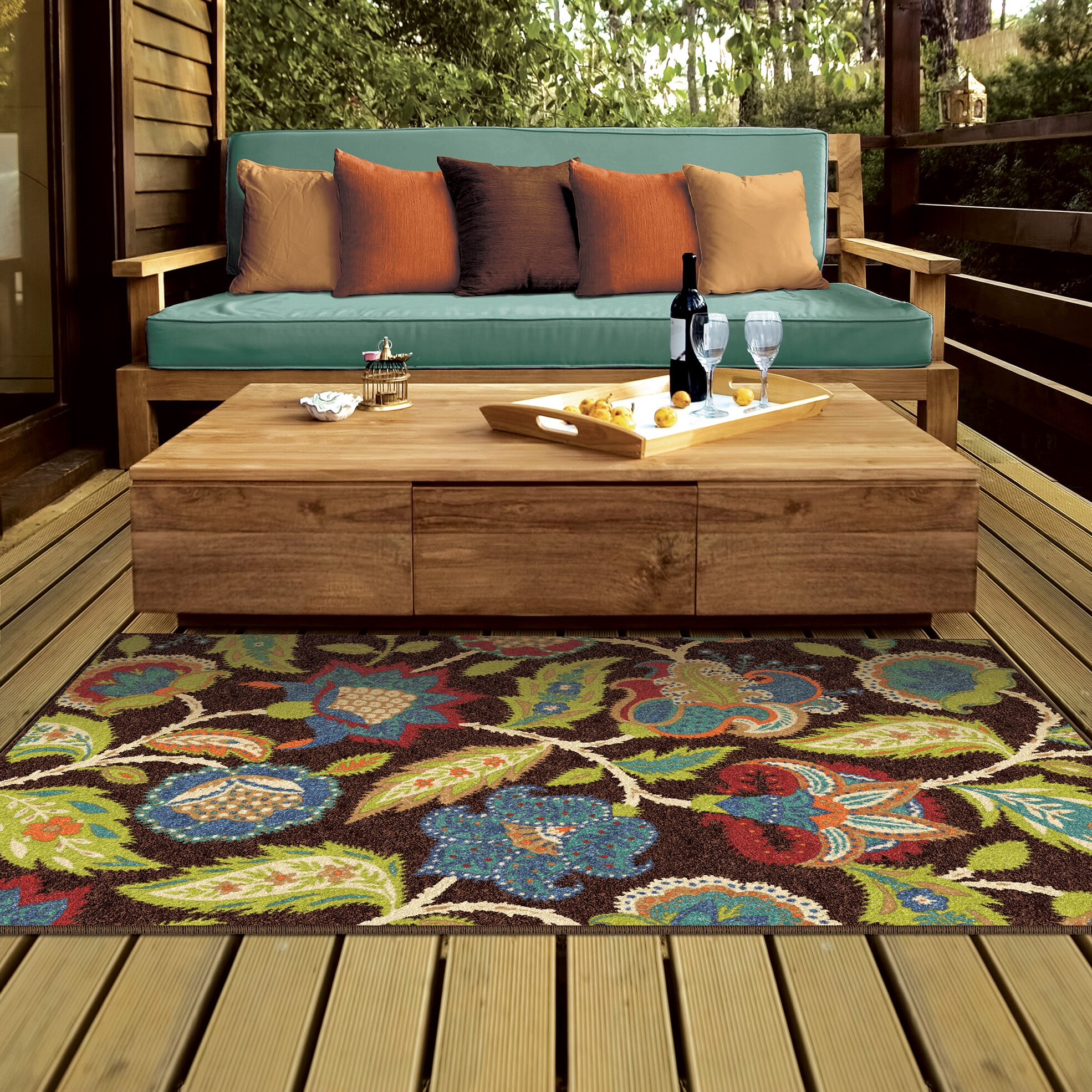 Threadbind Orwell Brown Indoor Outdoor Area Rug Amp Reviews