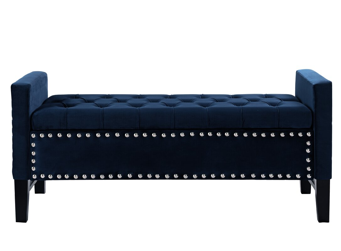 iconic home lance upholstered storage bench  reviews  wayfair - defaultname
