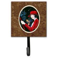 Lady Driving with Her Rottweiler Leash Holder and Wall Hook by Caroline's Treasures
