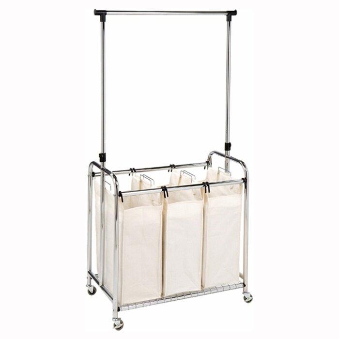 3 bag laundry sorter. Wayfair Basics 3 Bag Laundry Center Reviews Sorter