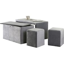 Yogyakarta 4 Piece Upholstered Storage Entryway Bench Set by Latitude Run