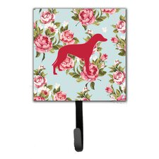 Greyhound Shabby Elegance Roses Leash Holder and Wall Hook by Caroline's Treasures