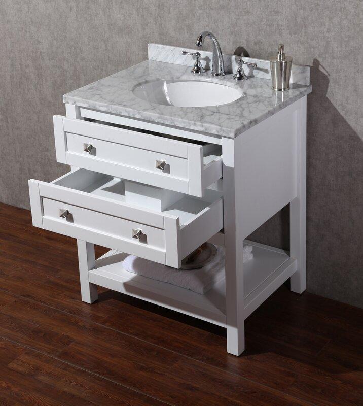 "Bathroom Vanities Venice Fl dcor design albia 30"" single sink bathroom vanity set with mirror"