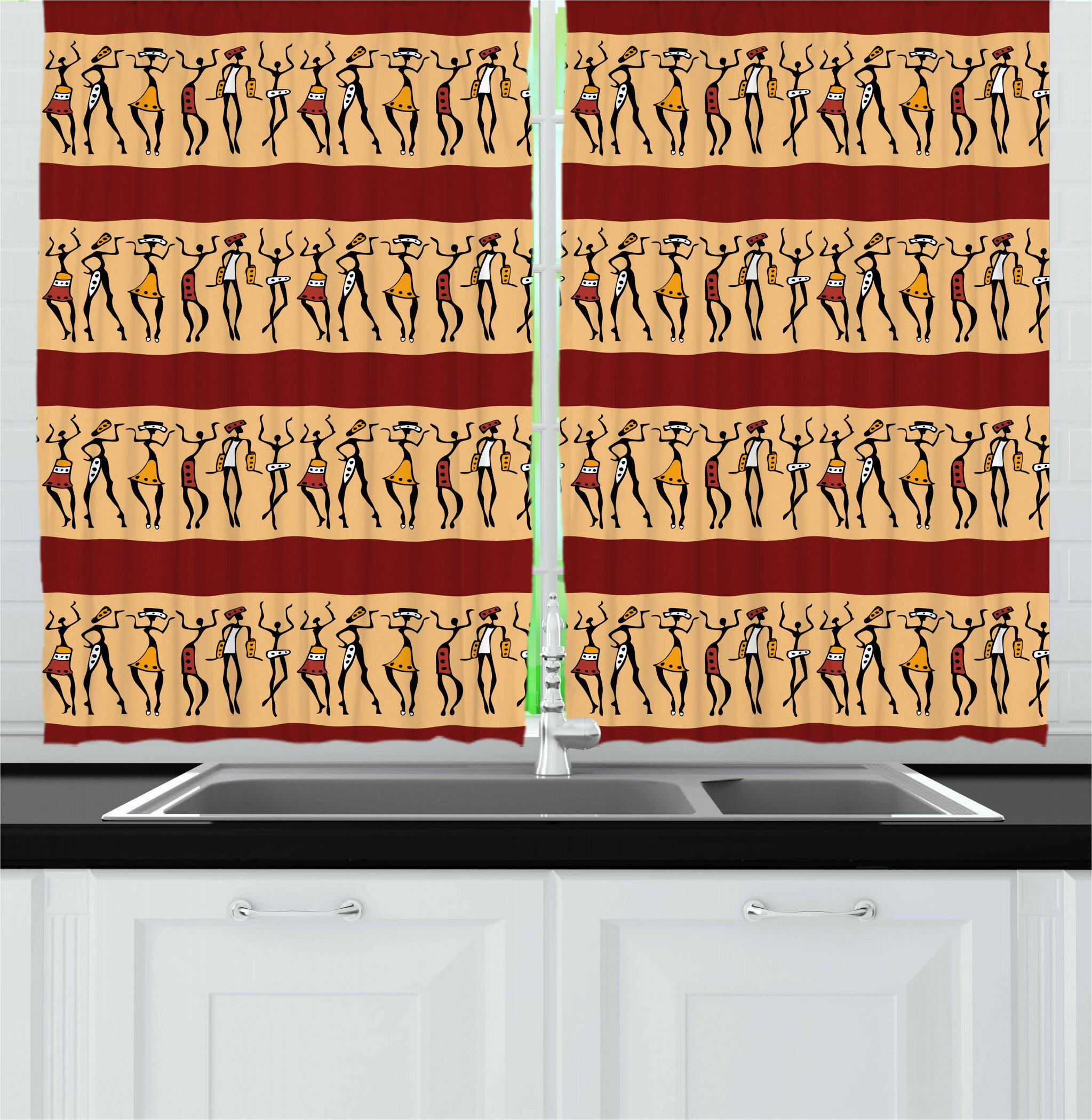 East Urban Home African Kitchen Curtain Wayfair
