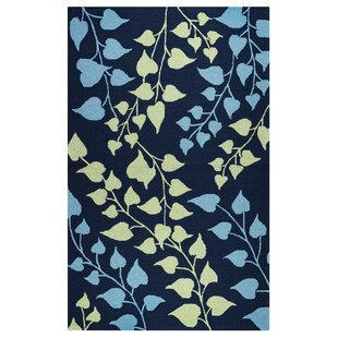 Carsdale Hand-Tufted Indigo Indoor/Outdoor Area Rug