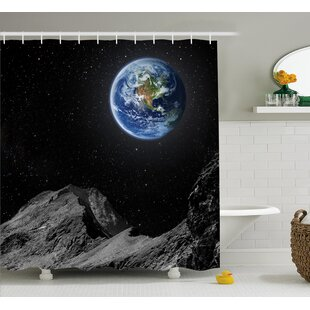Moon Mars Planet Earth Single Shower Curtain