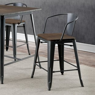 Kayman Industrial Counter Height Dining Chair (Set of 4) 17 Stories