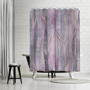Lebens Art Purple Shiny Elegance Shower Curtain by East Urban Home