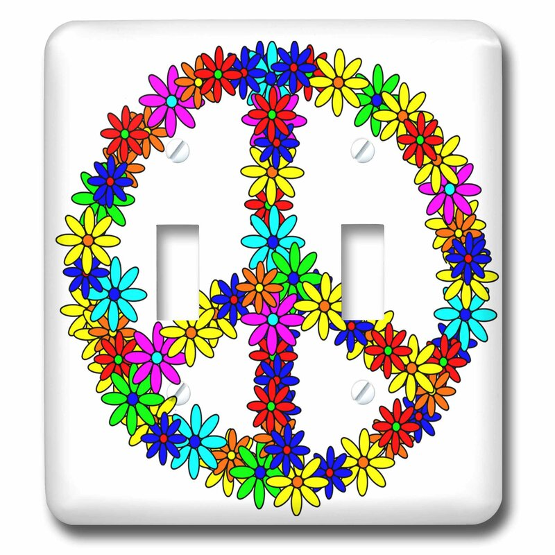 3drose Peace Sign Flower Power Design 2 Gang Toggle Light Switch Wall Plate Wayfair
