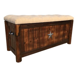 Leigh Country Char-Log Burlap Storage Bench