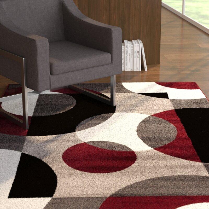 Zipcode Design Toomsboro Geometric Burgundy Area Rug Reviews