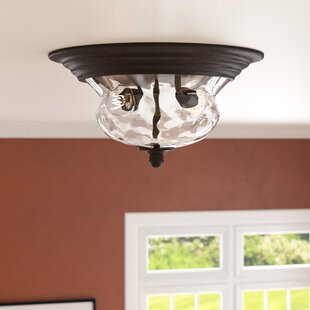 Three Posts Porterfield 2-Light Flush Mount
