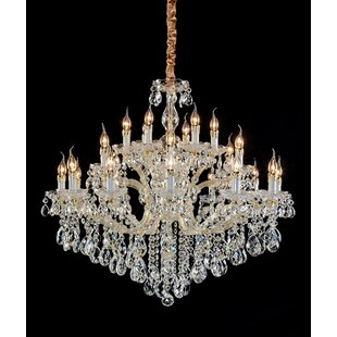 Nathen 24-Light Crystal Chandelier by Ros..