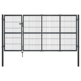 LaDarrius 11' X 6' (3.5m X 1.7m) Metal Gate By Sol 72 Outdoor