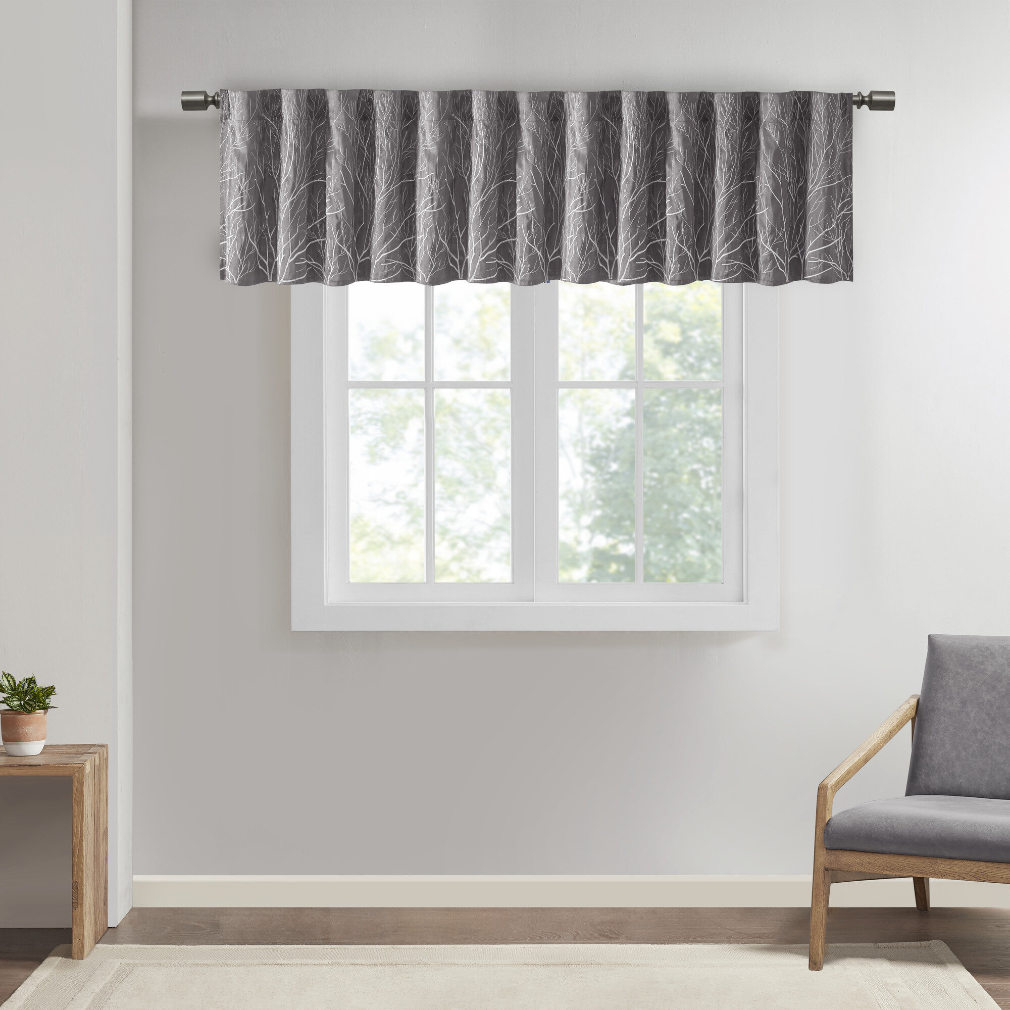 Gray Silver Valances Kitchen Curtains Free Shipping Over 35 Wayfair