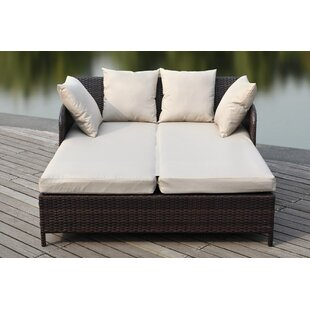 Andromeda Sun Double Chaise Lounge With Cushion
