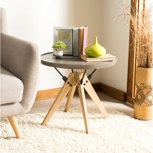 Kyla Concrete End Table By Williston Forge
