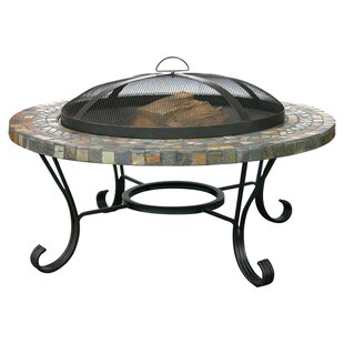 Uniflame Corporation Steel Wood Burning Fire Pit Table