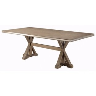 Lampkin Rectangular Solid Wood Dining Table by One Allium Way Best Choices