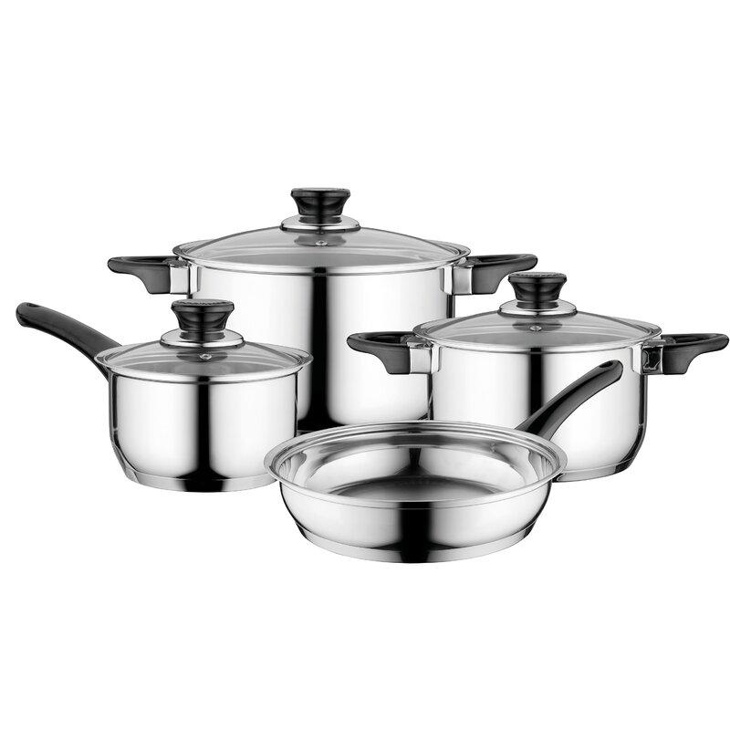 Berghoff International 7 Piece Stainless Steel Cookware Set Wayfair