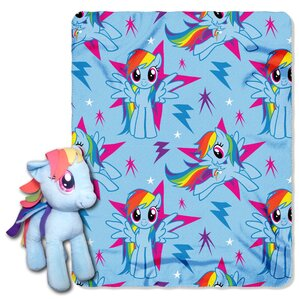My Little Pony Rainbow Dash 2 Piece Fleece Throw And Hugger Pillow Set