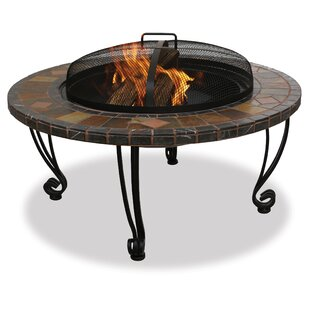 Blue Rhino Uniflame Wrought iron Wood Burning Fire Pit Table