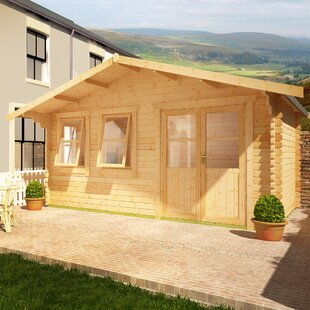Zeta 14 X 14 Ft. Tongue And Groove Log Cabin By Tiger Sheds