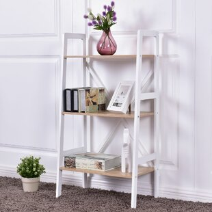 Tilton 3 Tier Ladder Storage Shelves Bookcase