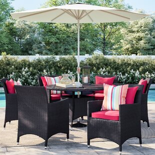 Brentwood 8 Piece Outdoor Patio Dining Set with Cushions by Sol 72 Outdoor