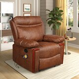 Reclining Heated Massage Chair by Union Rustic